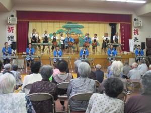 西区、和太鼓 北島三郎のまつりに合わせての演奏。