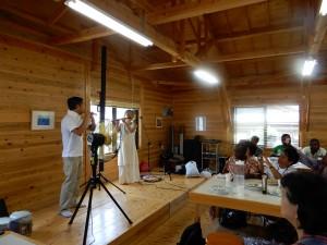 ヨーコ&サムによる篠笛の演奏