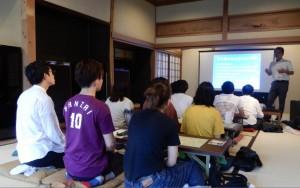 長崎県立大学 綱辰幸教授とゼミの学生11名が森田屋を訪問。