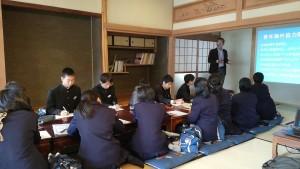 広島県福山市の常金(つねかね)中学校の2年生17名が雪浦を訪問。