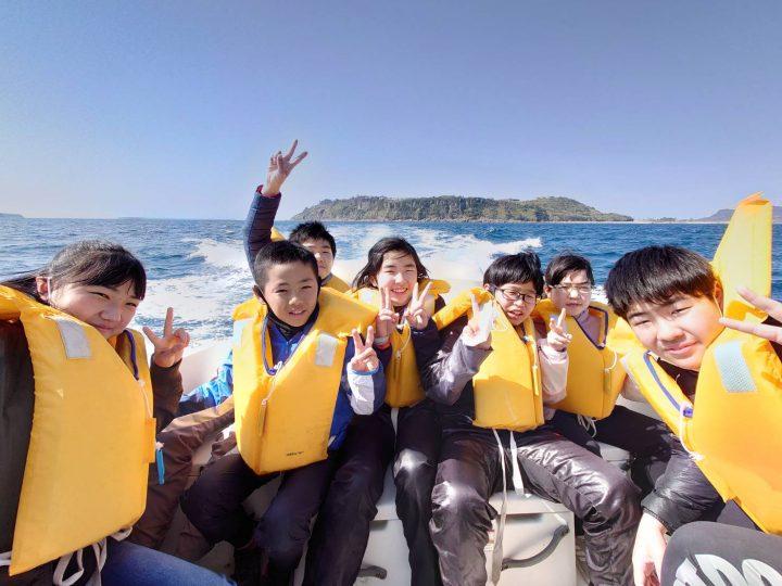 雪浦小学校 海から故郷を見る!(クルージング体験)